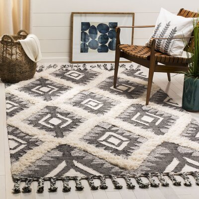 Cedarvale Hand-Knotted Brown/Ivory Area Rug Rug Size: Rectangle 6 x 9