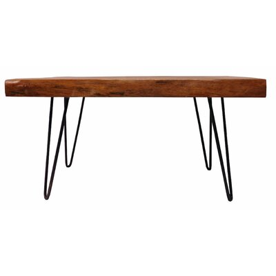 Dallas Coffee Table Size: 19.5 H x 37 W x 29 D, Table Top Color: Natural/Brown