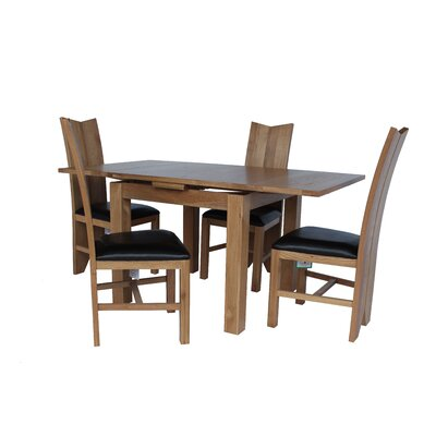 Baxley 5 Piece Extendable Dining Set Color: Light Dark Oak