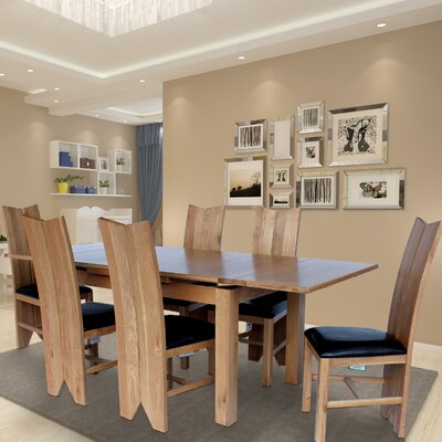 Baxley 7 Piece Dining Set Color: Natural Oak