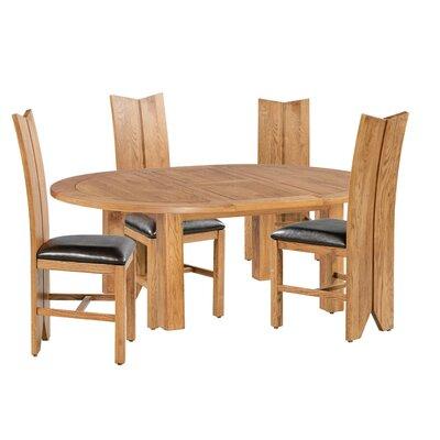 Alicia 5 Piece Extendable Breakfast Nook Dining Set Color: Light Dark Oak
