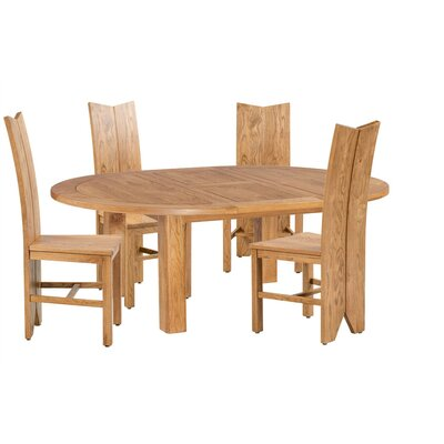 Alicia 5 Piece Extendable Breakfast Nook Dining Set Color: Light Dark Oak