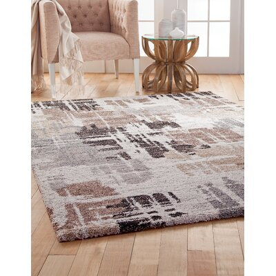 Corrinne Brown/Gray Area Rug Rug Size: 53 x 76