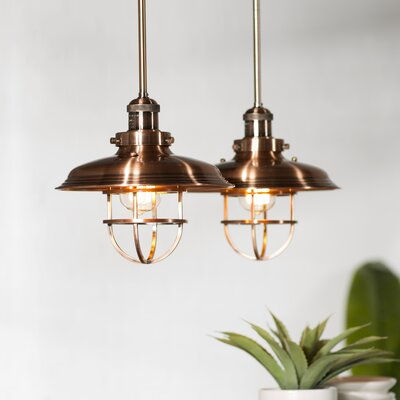 Archie Adjustable 1-Light Metal Pendant Finish: Antique Copper, Bulb: Not Included
