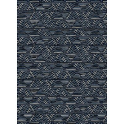 Fawnia Geometric Thunder Blue Area Rug
