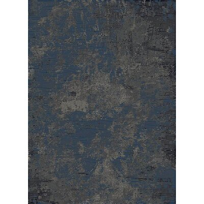 Favor Abstract Thunder Blue Area Rug
