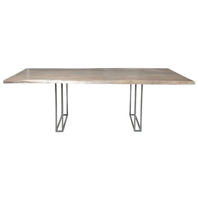 Ashly Live Edge Extendable Dining Table Finish: Matte Galvanized