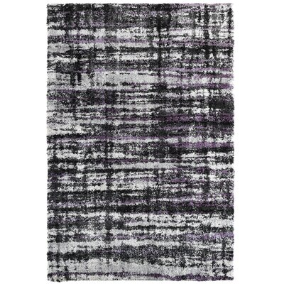 Menzies Charcoal Area Rug Rug Size: 53 x 76