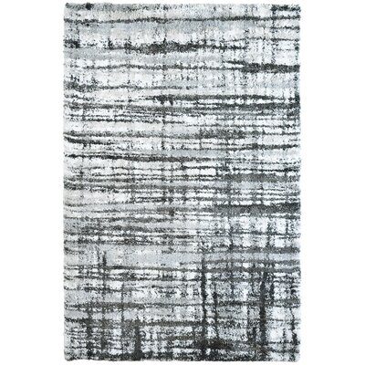 Menzies Stripes Black Area Rug Rug Size: 8 x 10