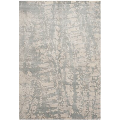 Lidia�dia Hand-Knotted Silk Gray Area Rug Rug Size: Rectangle 6 x 9
