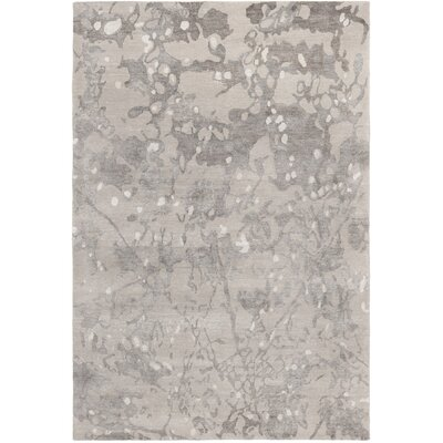 Wildhollow Tibetan Hand Knotted Smoke Area Rug Rug Size: Rectangle 6 x 9