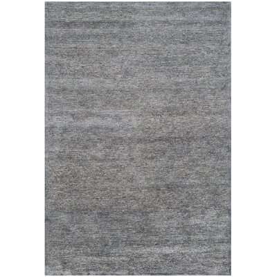 Lidia�dia Hand-Knotted Black Area Rug Rug Size: Rectangle 6 x 9