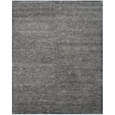 Lidia�dia Hand-Knotted Black Area Rug Rug Size: Rectangle 8 x 10