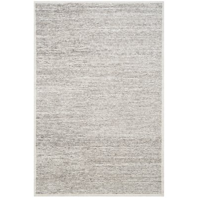 Lidia�dia Hand-Knotted Striped Gray Area Rug Rug Size: Rectangle 6 x 9