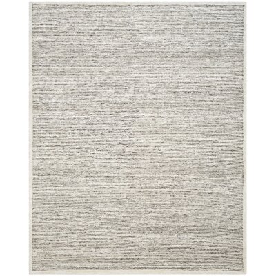 Lidia�dia Hand-Knotted Striped Gray Area Rug Rug Size: Rectangle 8 x 10