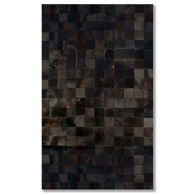 Aayush Cowhide Chocolate Area Rug