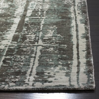Zowie Hand Woven Cotton Silver Area Rug Rug Size: Rectangle 6 x 9