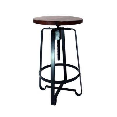 Tyrik Adjustable Height Swivel Bar Stool