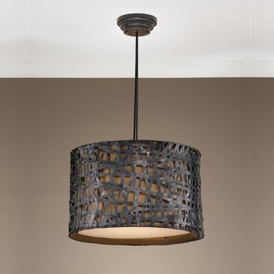 Mollie 3-Light Drum Pendant Finish: Rust Black