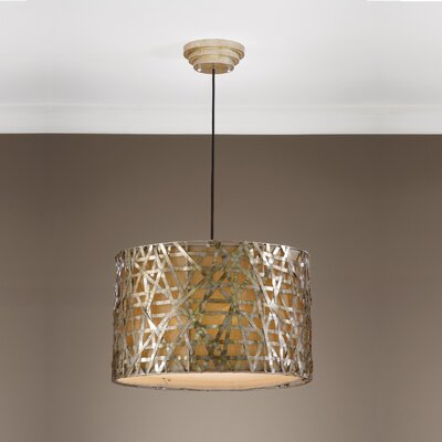 Mollie 3-Light Drum Pendant Finish: Champagne Satin