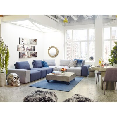 Milford Blue Area Rug Rug Size: Rectangle 5 x 8