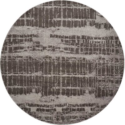 Stanton Brown Area Rug Rug Size: Round 8