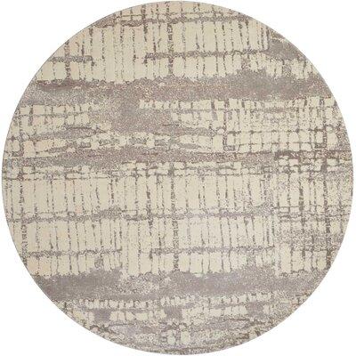 Stanton Ivory/Gray Area Rug Rug Size: Round 8 x 8