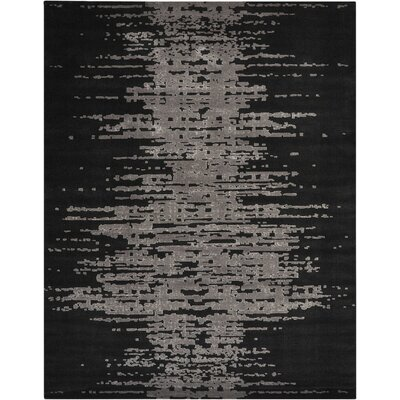 Stanton Black/Gray Area Rug Rug Size: Rectangle 79 x 99
