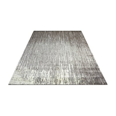 Stanton Abstract Gray Area Rug Rug Size: Rectangle 56 x 8