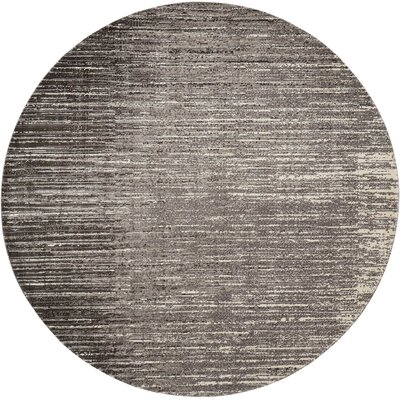 Stanton Abstract Gray Area Rug Rug Size: Round 8 x 8