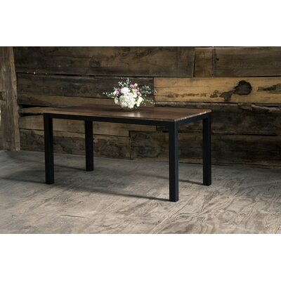 Sierra Parsons Dining Table Top Color: Solid Walnut