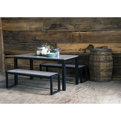 Arquell 3 Piece Dining Set Color: Fog/Maple