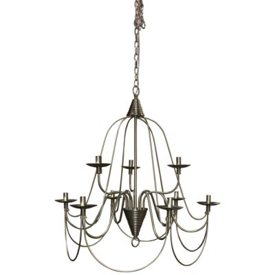 Vahe 9-Light Candle Style Chandelier Finish: Brushed Nickel