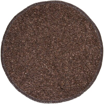 Jawawn Brown/Tan Solid Area Rug Rug Size: Round 4