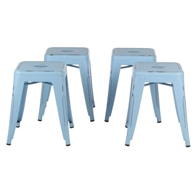 Kimpli 18 Bar Stool Color: Antique Blue