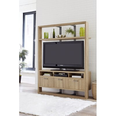 Delfin 63 Entertainment Center Color: White Oak
