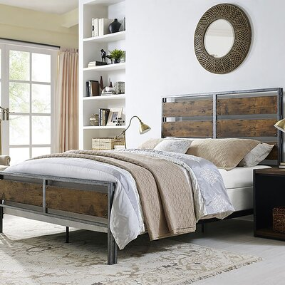 Fabienne Queen Panel Bed Color: Brown Oak
