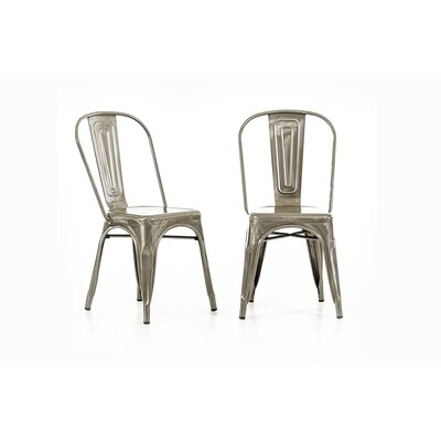 Sheree Silver Metal Side Chair
