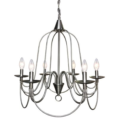 Vahe 6-Light Candle Style Chandelier Finish: Brushed Nickel