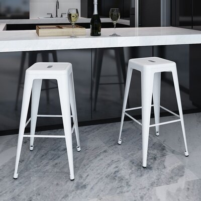 Armina 30 Bar Stool Color: White