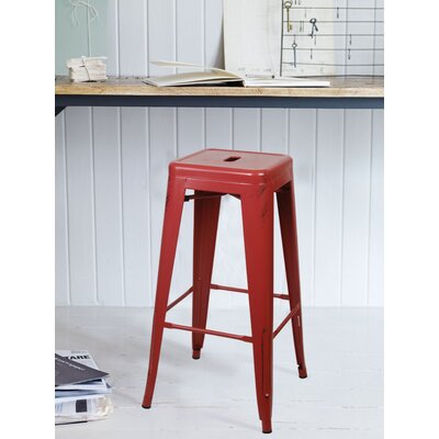 Armina 30 Bar Stool Color: Antique Red