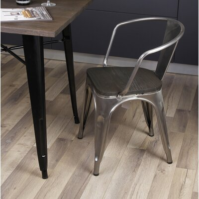 Anni Metal Dining Chair Color: Gunmetal