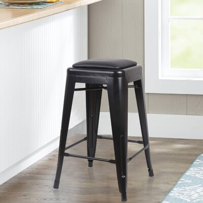 Apsel 24 Bar Stool Color: Black