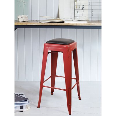 Apsel 30 Bar Stool Color: Antique Red