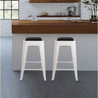 Apsel 24 Bar Stool Color: White