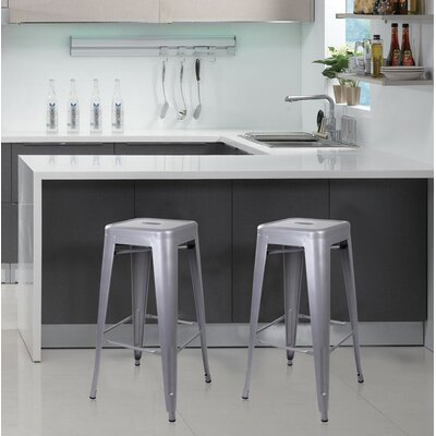 Armina 30 Bar Stool Color: Gray