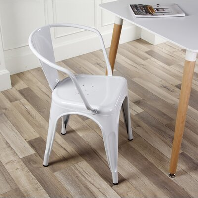 Anni Metal Dining Chair Color: White