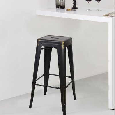 Armina 30 Bar Stool Color: Antique Black