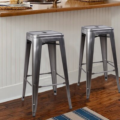 Armina 30 Bar Stool Color: Gunmetal