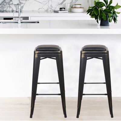 Apsel 30 Bar Stool Color: Antique Black